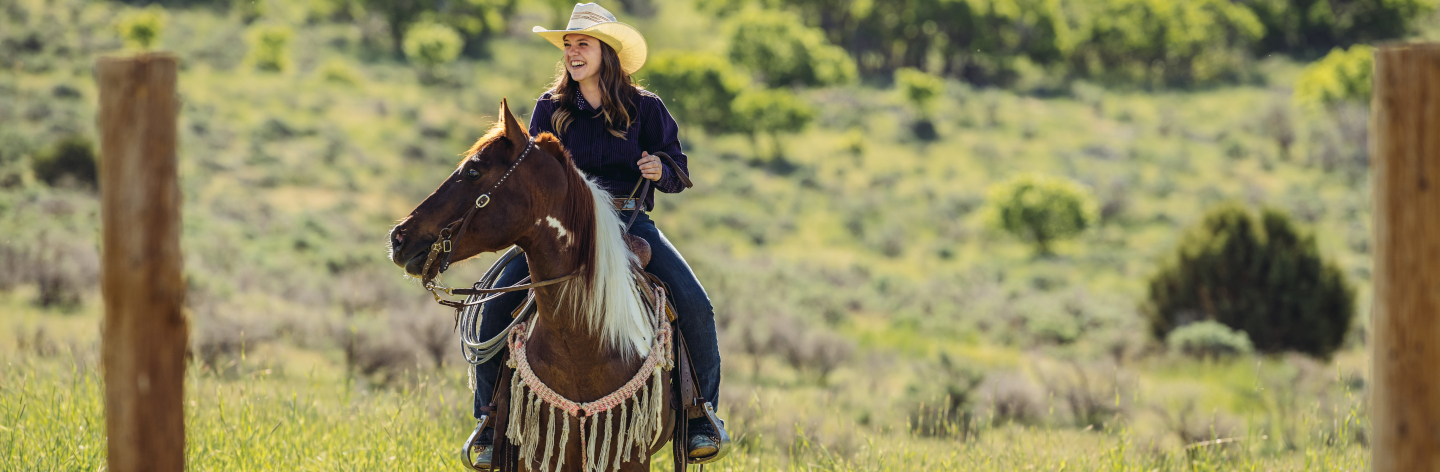 Utah Cowgirl On Horse