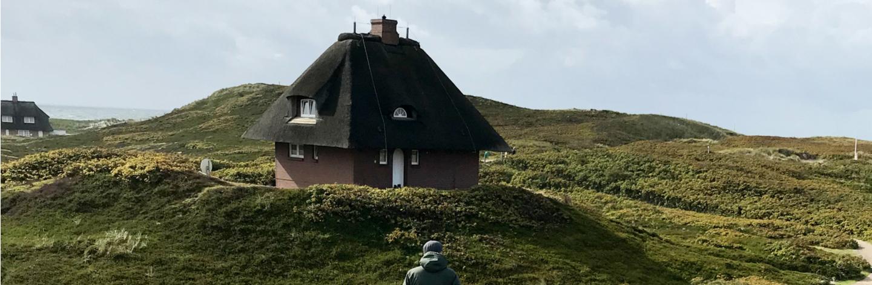 Typische Reetdachhäuser auf Sylt