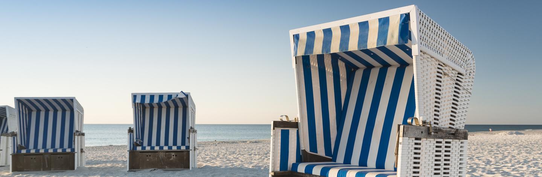 Im Strandkorb den Urlaub auf Sylt genießen
